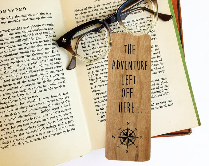 The adventure left off here- Wooden Cherry Bookmark-Eco Friendly - Bookworm Gift - Gifts for Book Lovers - Made in Michigan