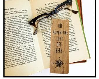 The adventure left off here- Wooden Cherry Bookmark
