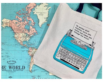 FUNDRAISER! No matter what anybody tells you, words and ideas can change the world!  Cotton Canvas Tote Bag