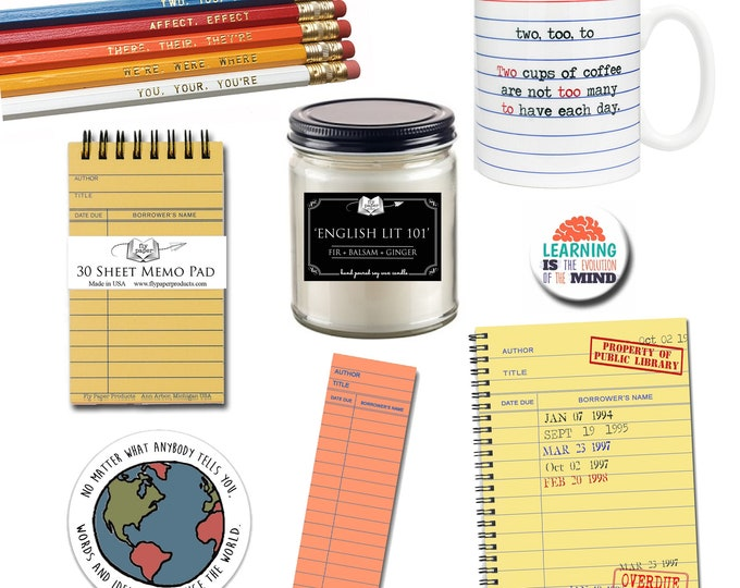 The Ultimate Teacher Gift Set - Gifts for Book Lovers - Classroom - School - Literary Gifts - Literature - Library - Home School - Grammar