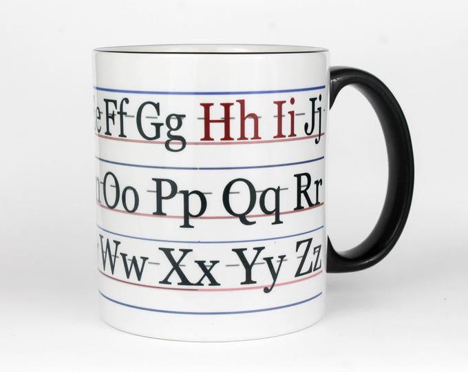 Alphabet- Hi- Coffee Mug
