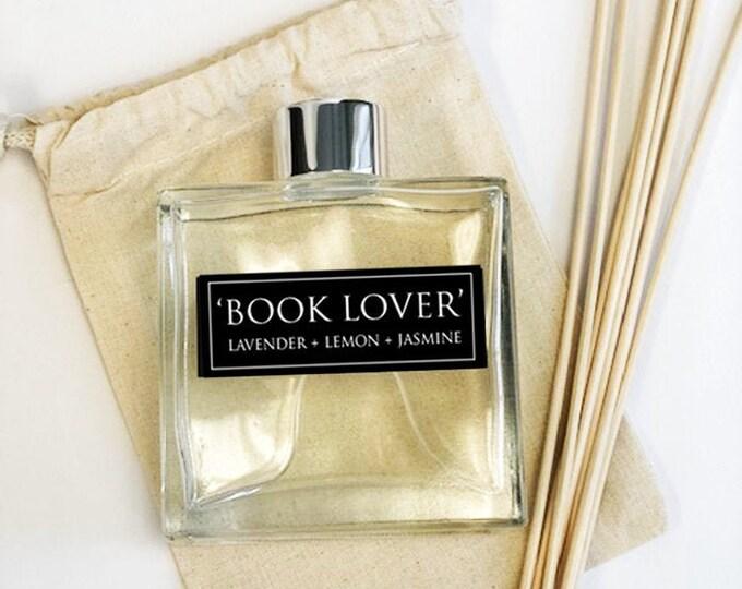 Book Lover - 7oz Essential Oil Diffuser Set - Lavender + Lemon + Jasmine  - Book Lover Gifts - Bibliophile Gifts - Room Decor - Frangrance