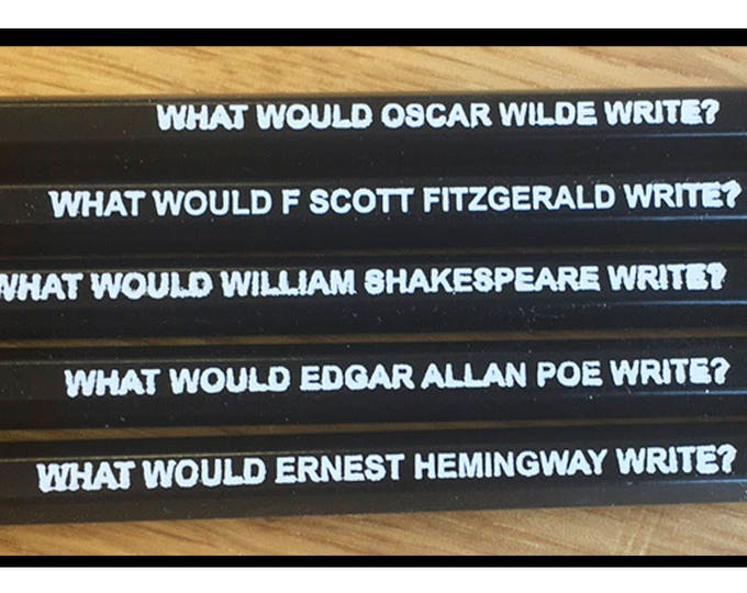 Set of 5 Famous Male Author Inspiration Pencils