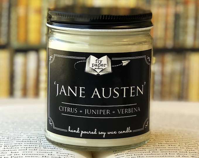 Jane Austen - 9oz Handpoured Soy Candle