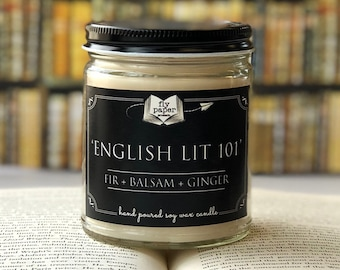 English Lit 101 - 9oz Handpoured Soy Candle