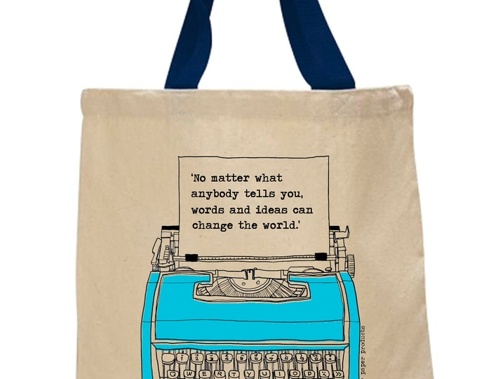 Fundraiser! No matter what anybody tells you, words and ideas can change the world!  Cotton Canvas Tote Bag - BINC Booksellers
