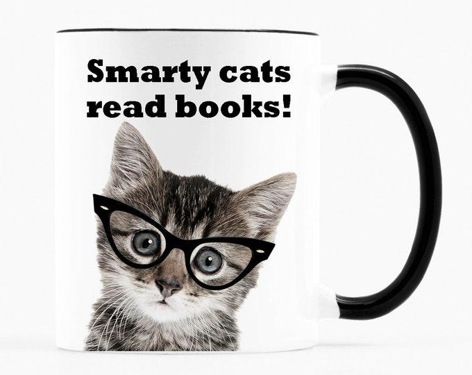 Smarty cats read books!- Literary Coffee Mug