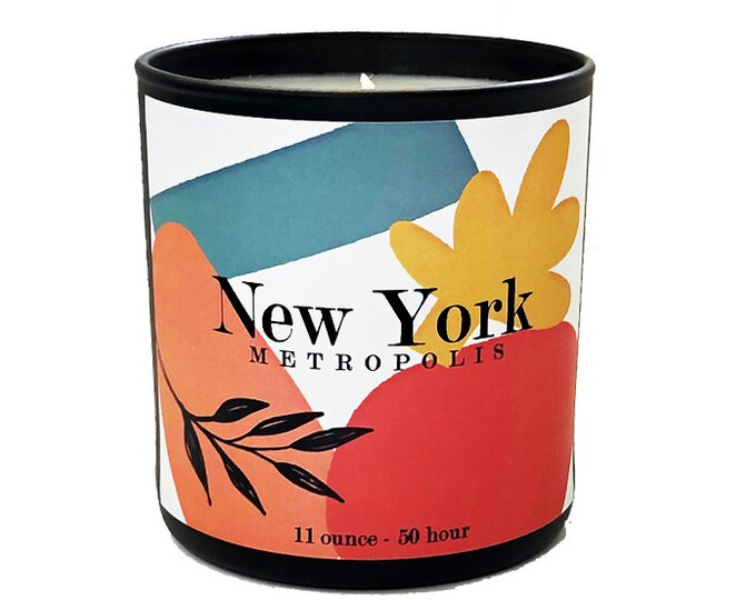 New York -11oz  Luxe Soy Candle -Metropolis Collection - Eucalyptus & Lavender Fragrance - Travel - Get Away -Avant Garde - Art -Boxed Gift