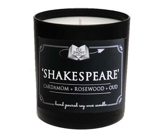 Shakespeare -11oz Handpoured Soy Candle