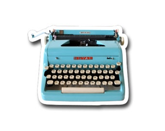 "Underwood Typewriter- 3"" vinyl Sticker"