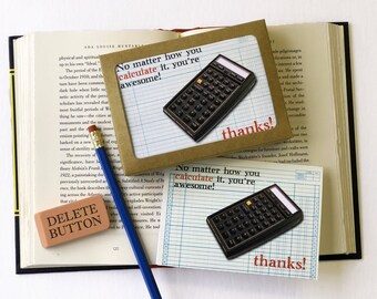 No Matter How You Calculate it, You're Awesome! Thanks!  Boxed Thank You Cards
