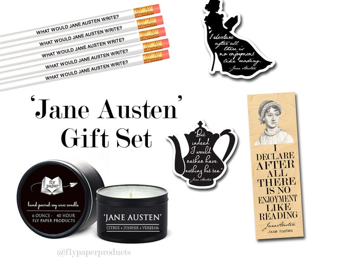 The Ultimate Jane Austen Gift Set - Pemberley Gardens - Heroine - Literary Gift Box - Pride and Prejudice - Classic Literature - Author