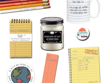 The Ultimate Teacher Gift Set - Gifts for Book Lovers - Classroom - School - Literary Gifts - Literature - Library - Librarian - Support