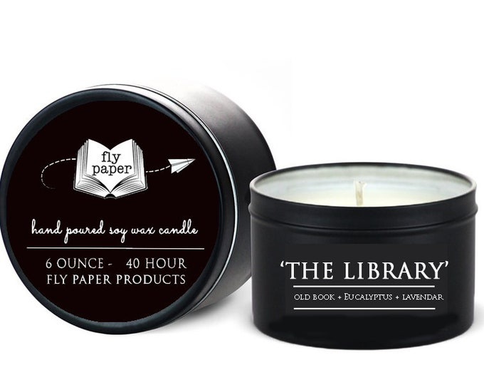 The Library - 6oz Travel Tin Handpoured Soy Candle