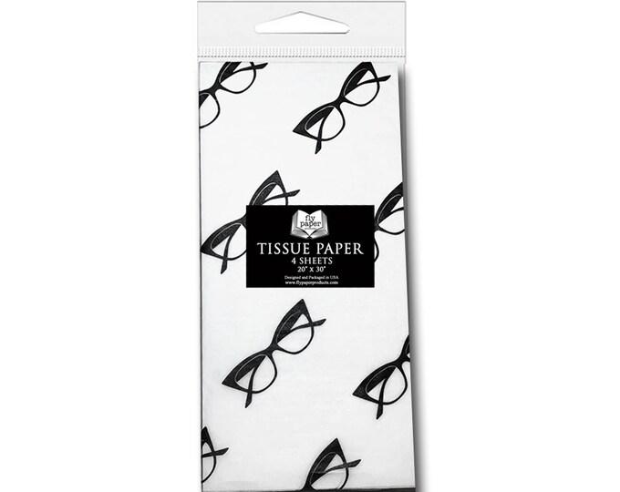 Cat Eye Glasses Tissue Paper - Packaged