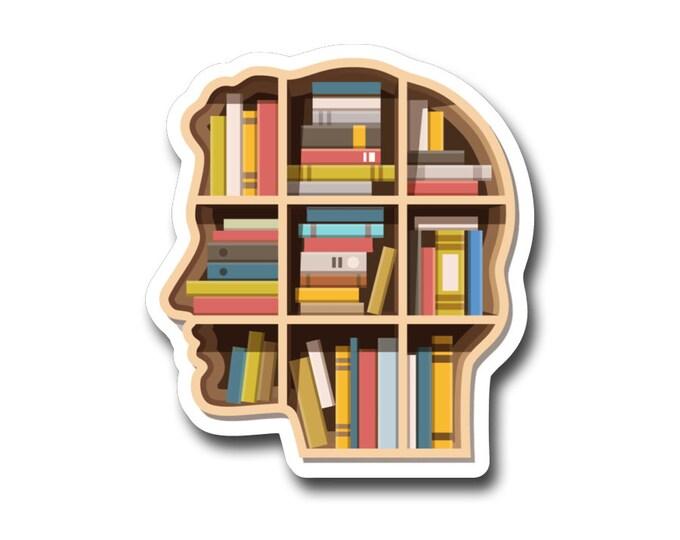 """Book Brain-  3"""" vinyl Sticker"""