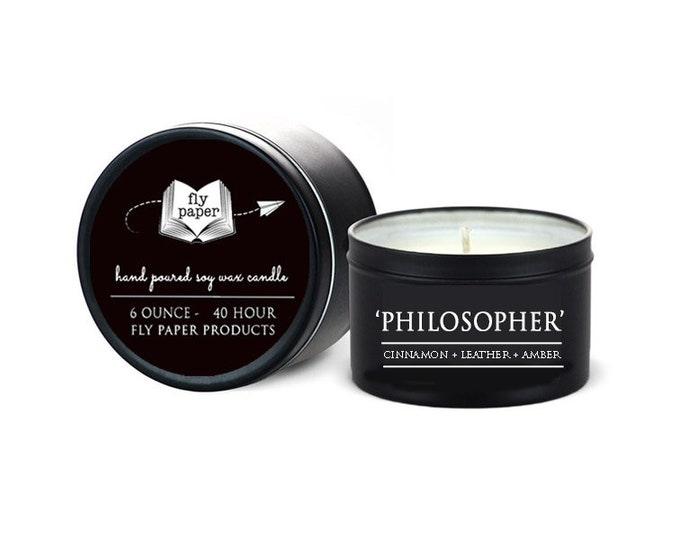 The Philosopher - 6oz Travel Tin Handpoured Soy Candle