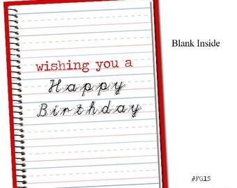 Wishing you a Happy Birthday! Grammar themed Birthday card.