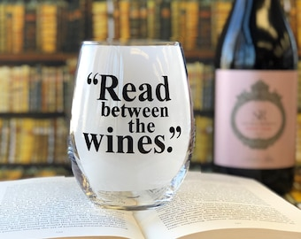 SALE! Read between the Wines - 21 oz XL Stemless Wine Glass
