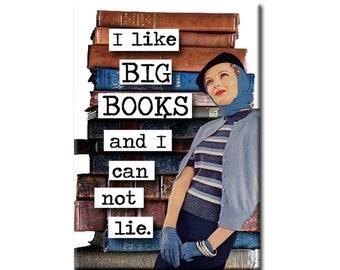 Big Books. Book themed FRIDGE MAGNET