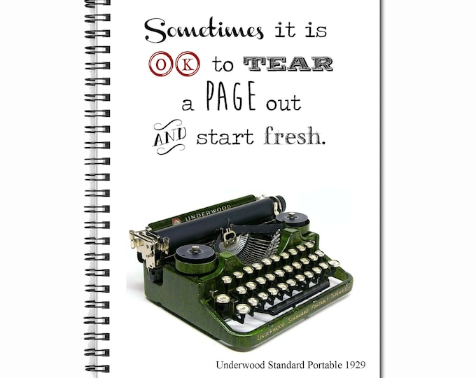 Sometimes it is OK to tear a page out and start fresh. - Note Book