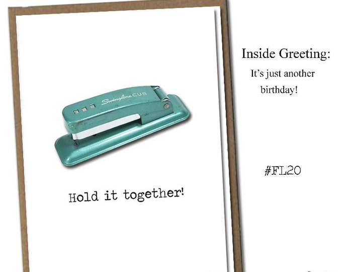 Hold it together! Classic Linen Series Greeting Card- Birthday Card