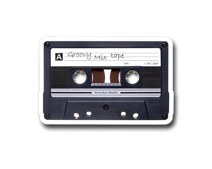 "Groovy Mixed Tape  3"" vinyl Sticker"