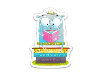 "Lil' Monster Reading 3"" vinyl Sticker"