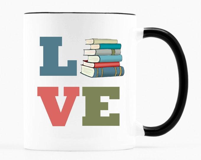 Love Books- 11 ounce Coffee Mug