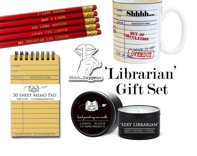 The Ultimate Librarian Gift Set - Gifts for Book Lovers -Public Library - Library Science Major- Graduation- Retirement- Sexy Librarian