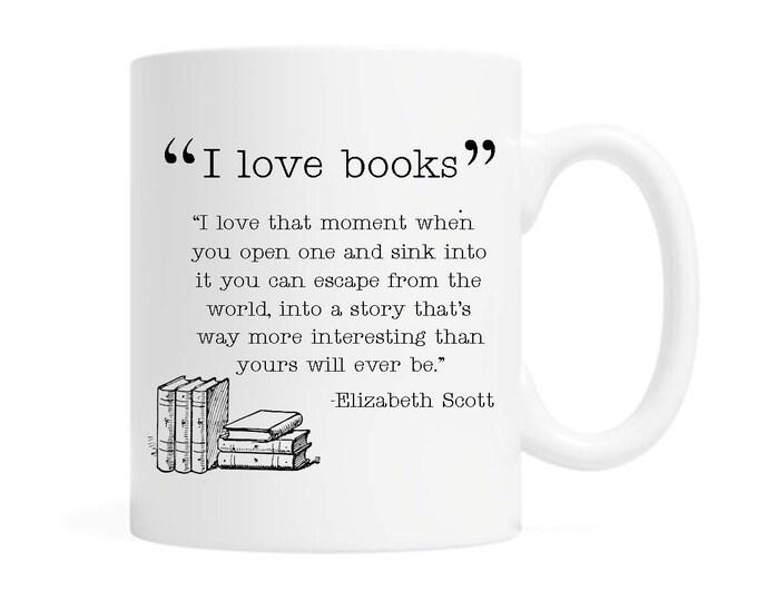 I love books - Coffee Mug