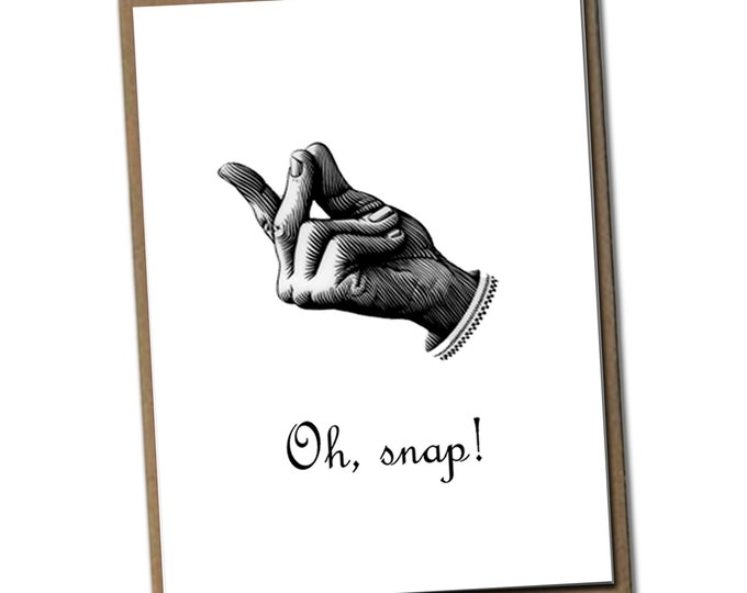 Oh, snap! Classic Linen Series Greeting Card- Friendship Card