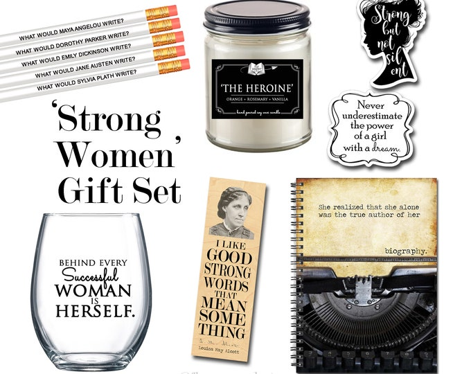 The Ultimate Feminist Gift Set - Strong Women - Successful Women - Heroine - Literary Gift Box - Author - Classic Literature- Louisa Alcott