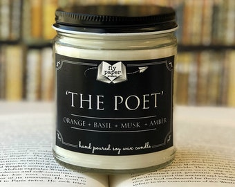 The Poet - 9oz Handpoured Soy Candle
