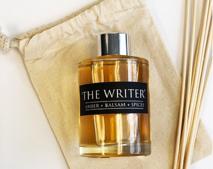 The Writer - 4oz Essential Oil Diffuser Set - Amber + Balsam + Spices  - Book Lover Gifts - Bibliophile Gifts - Home Decor - Fragrance