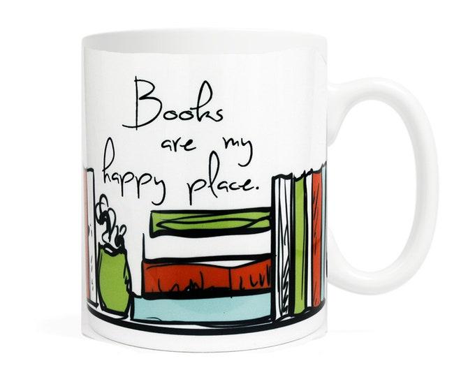Books are my happy place - Coffee Mug