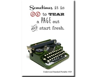 Sometimes it is OK to tear out a page and start fresh- Underwood Standard Portable circa 1929