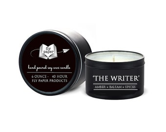 The Writer - 6oz Travel Tin Handpoured Soy Candle