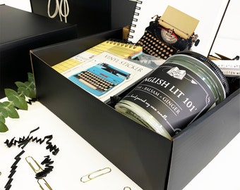 The Ultimate  Book Lovers Gift Set- Boxed Gift Set- Book Inspired Gifts- Literary Gift Set - Bookworm - Bookish Gifts - Book Candles