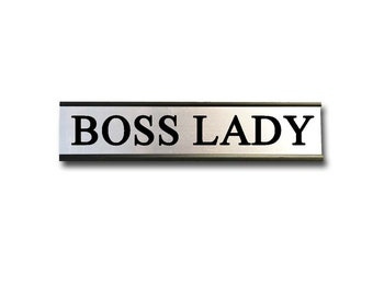 Boss Lady- Desk Top Name Plate Office Flair
