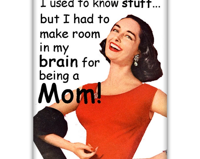 I used to know stuf...FRIDGE MAGNET
