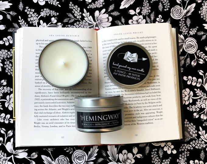 Hemingway - 6oz  Tin Handpoured Soy Candle