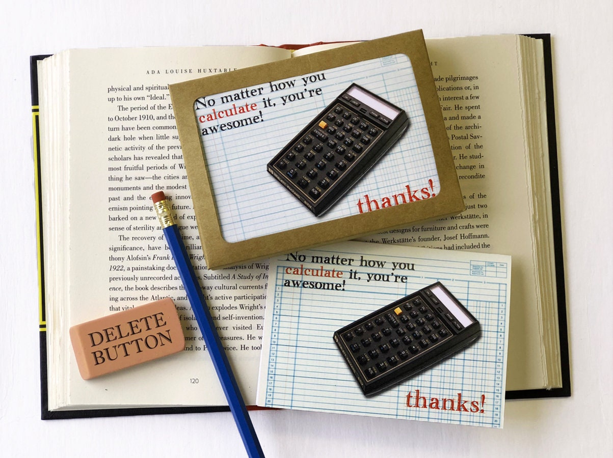 No Matter How You Calculate It, Youu0027re Awesome! Thanks! Boxed Thank You  Cards