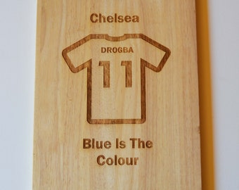 Chelsea Chopping Board Fans Dad Son Gift Cheese
