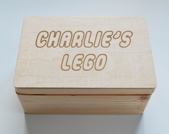Personalised Childrens Keepsake Wooden Box, School Achievements box, Reward Box, Photo Box,  Memory Box, Jewellery Box, Lego Box