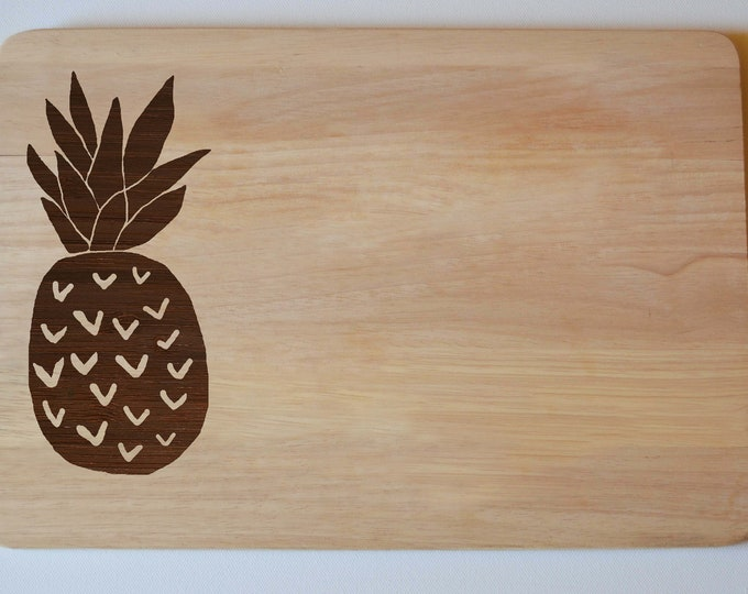 Featured listing image: Pineapple Chopping Cheese Board, Engraved Wedding Gift, Anniversary Gift