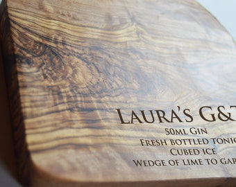 G&T Board, Olive Board, Drinks Lemon and Lime Cutting, Chopping Board
