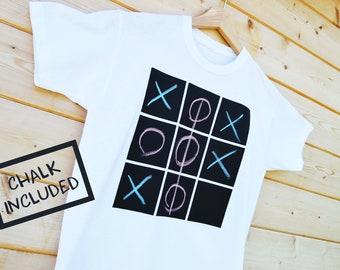 Emoji T-Shirt, Clock Face Tshirt, Screen Printed Chalk Board T-Shirt, Kids Cool T-Shirt, Design your own T-Shirt, Telling Time