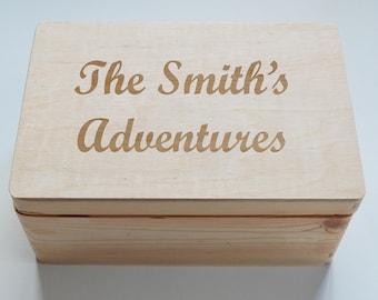 Mothers Day Gift, Photo Box, Personalised Wooden Box, Family Photo Album, Photo Album, Keepsake box, Photo Box, Photography Box