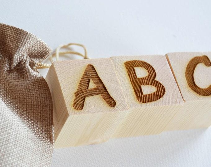 Featured listing image: Personalised Wooden Name Blocks, Number Blocks, Alphabet Blocks, Display Blocks, Building Blocks